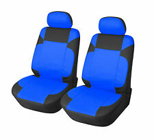 Leather Like 2 Front Car Seat Covers for Subaru 153 Bk/Blue
