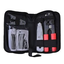 LY-TK22 RJ-45/RJ-11 Network Wiring Tool Kit w/Cable Tester, Crimping Tool & More
