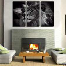 Oil Painting HD Print On Canvas Dec Wall Art,Black and White Lion King no frame