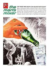 1964 Golfers Golf Course art Seven-Up 7Up Soda vintage promo print ad