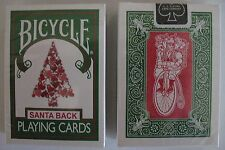 1 deck Bicycle 245 Green Deck Red Santa Maiden Back Playing Cards Christmas Tree