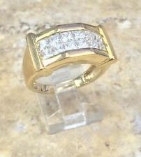 VICTORIA WIECK 18CT ABSOLUTE VERMEIL INVISIBLE SET-MEN'S RING SIZE 9 HSN SOLDOUT