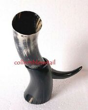 Viking drinking horn with stand for mead beer wine christmas gift