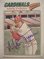 MIKE TYSON signed CARDINALS 1977 Topps baseball card AUTO Autographed CUBS #599