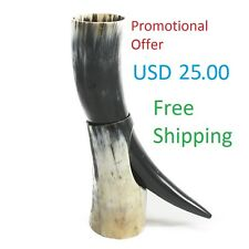 Promotional offer viking drinking horn with stand mug wine beer mead pagan