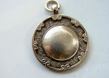 Vintage Sterling Silver Fully Hallmarked 1928 Watch Fob / Medal