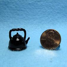 Dollhouse Miniature Tea Kettle ~ Black  IM65115