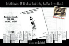 """Delta/Milwaukee 14"""" Metal and Wood Cutting Band Saw Manual Parts Schematics etc."""