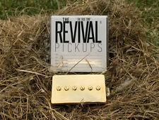 THE REVIVAL PICKUPS RPH 90 ALNICO II P90 BUCKER SET GOLD 8.5+9.5k THE TRUE TONE