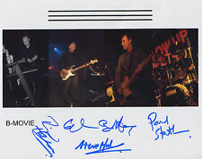 B-Movie (Band) B. Movie FULLY SIGNED 8 x 10 Photo Genuine Obtained In Person