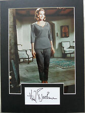 HONOR BLACKMAN Signed 13x9 Photo Display PUSSY GALORE in JAMES BOND 007 COA