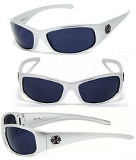 Mens Choppers Outdoors Bikers Sport Motocycle Wrap Sunglasses - Silver C24 Cross