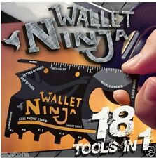 WALLET NINJA SURVIVAL COLTELLO CARTA DI CREDITO CREDIT CARD KNIFE COLTELLO MULTITOOL 18 1
