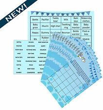 Baby Shower Bingo - Premium Party Game- Blue/Boy- 20 Players - Lil'Tinka