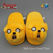 Adventure Time With Jake Soft Plush Stuffed Slipper one Pair NWT