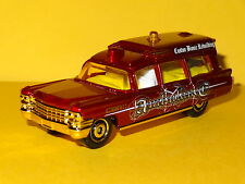 1963 CADILLAC AMBULANCE RED GOLD 1/64 SCALE LIMITED EDITION