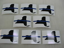 8 NEW YORK THIN BLUE LINE FLAG Sticker Decals 4 POLICE boat car Window Truck suv