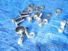 "MF 35 Tractor Bonnet BOLTS. Polished Stainless Steel.C/w Lock nuts.1/4"" Set of 8"