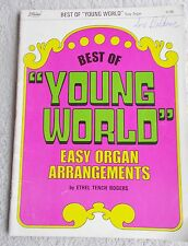 Best Young World Sacred Songs Arr EZ Organ Rogers Unmarked