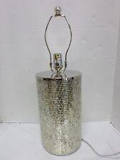 Pottery Barn PB Chantal Table Lamp Base Mosaic Mirrored Bedside Desk NO SHADE