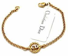 Christian Dior Symbol Bracelet Gold Plated CD Monogram 6 grams New