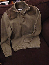 Barbour Weymouth Lambswool Sweater Size Small, Half-zip, Olive