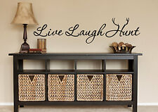 LIVE LAUGH HUNT Hunting Decor Wall Art Decal Quote Words Lettering Sticker