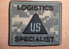 ,ARMY PATCH,ACU,NON COMBATANT, LOGISTICS SPECIALIST,WITH,VELCR