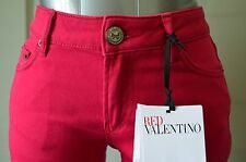 NWT RED VALENTINO Jeans 25W SUPER CUTE pants Slim Magenta Bow Designer