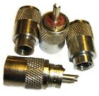 PL259 UHF CONNECTOR PLUGS X 4 FOR RG213 COAXIAL CABLE by Rocket Radio