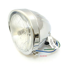 "☀5 3/4"" Custom Springer Style Chrome Halogen Motorcycle Headlight • DS-280000 ☀"