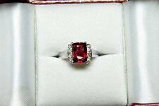 NATURAL BURMA RED SPINEL (UNTREATED) + DIAMOND RING- 2.45 CT 18K VALUED AT $8200
