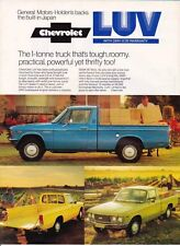 Two 1975 CHEVROLET KB20 CHEVY LUV Australian & US Brochures ISUZU