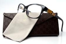 New Gucci GG 3673 Eyeglasses Frames Smoke Grey Bamboo WR7 Authentic 53mm