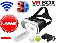 2016 realtà virtuale VR box 3d TELEFONO CASCO OCCHIALI VIDEO Gamepad + Bluetooth