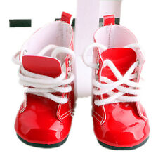"Handmade Red Boots Shoes For 18"" Doll Toy Party Clothes Kids Toy Shoes"