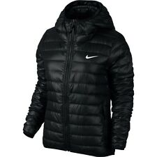 Nike Women's Victory 550 Down Hooded Black Jacket Size Medium NEW 683861 010