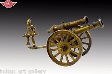 Beautiful Decorative Vintage Old Hand Crafted Brass Collectible Cannon. G7-614