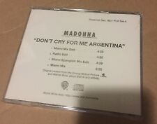 Madonna Don't Cry for Me Argentina USA Single Promo Rare CD