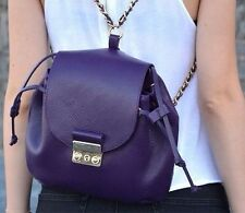 ZARA Woman Authentic BNWT Purple Backpack With Metal Clasp Handbag Bag 8008/304