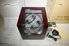 Love Nest Double Automatic Wrist Watch Winder Storage Box Quiet Mains / Battery