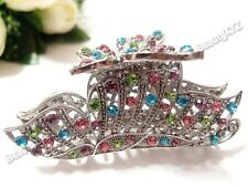 New 2016 Multi-color Crystal High Quality Metal Butterfly Hair Claw Clip Pin #62