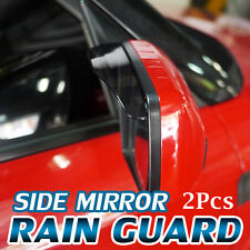 Side Mirror Shade Rain Snow Visor Guard Clear View For SMART - Fortwo
