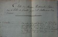 Etat des Maisons Nationales de Grenoble Remis au Ministre de La Guerre. 1804.