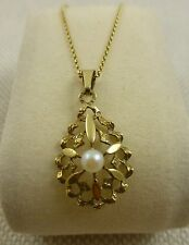 Vintage Antique Pearl Pendant 9ct Gold