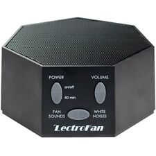 LectroFan - Fan Sound and White Noise Machine - Black (with UK/US/EU Plug)