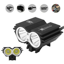 5000LM Solar Storm CREE XM-L T6 LED Headlight Bicycle Light with Battery+Charger