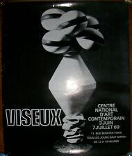 Affiche exposition Claude VISEUX. CNAC 1969