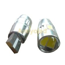 2 x Bombillas led coche T10 W5W 6 smd 12v color blanco LED 5630 (Canbus)