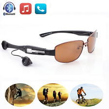 Wireless Bluetooth Headset Sunglasses Polarized Glasses Headphone Handfree w/Mic